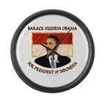 Obama for President of Indonesia Large Wall Clock