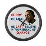 Sorry, Obama! Large Wall Clock