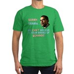 Sorry, Obama! Men's Fitted T-Shirt (dark)