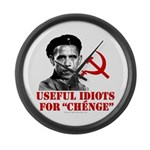 Ch Obama Useful Idiots Large Wall Clock