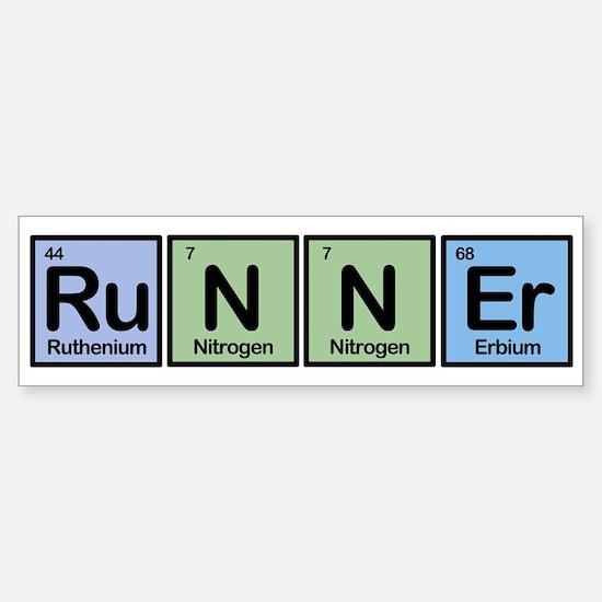 Runner made of Elements Bumper Bumper Bumper Sticker