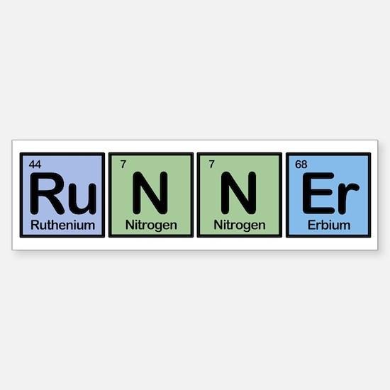Runner made of Elements Bumper Sticker (10 pk)