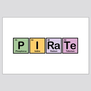 Pirate made of Elements Large Poster