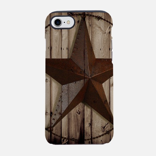 western texas star wood grain iPhone 7 Tough Case