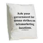 Target Telemarketing! Burlap Throw Pillow