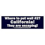 Wall #2? California! Sticker (Bumper)