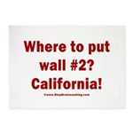 Wall #2? California! 5'x7'Area Rug