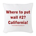 Wall #2? California! Woven Throw Pillow