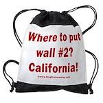 Wall #2? California! Drawstring Bag