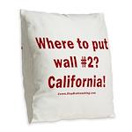 Wall #2? California! Burlap Throw Pillow