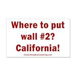 Wall #2? California! 20x12 Wall Decal