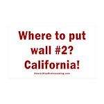 Wall #2? California! 35x21 Wall Decal