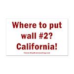 Wall #2? California! Rectangle Car Magnet
