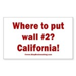 Wall #2? California! Sticker (Rectangle)