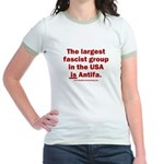 Antifa is Fascist! Duh! Jr. Ringer T-Shirt