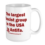 Antifa is Fascist! Duh! 15 oz Ceramic Large Mug