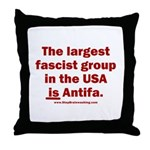 Antifa is Fascist! Duh! Throw Pillow