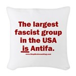 Antifa is Fascist! Duh! Woven Throw Pillow