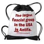 Antifa is Fascist! Duh! Drawstring Bag