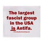 Antifa is Fascist! Duh! Throw Blanket