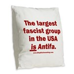 Antifa is Fascist! Duh! Burlap Throw Pillow