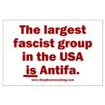 Antifa is Fascist! Duh! Large Poster