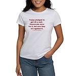 Trump pledged a wall Women's Classic T-Shirt
