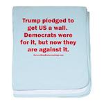 Trump pledged a wall baby blanket