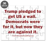 Trump pledged a wall Puzzle