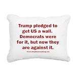 Trump pledged a wall Rectangular Canvas Pillow