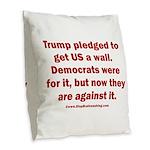 Trump pledged a wall Burlap Throw Pillow