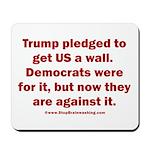 Trump pledged a wall Mousepad
