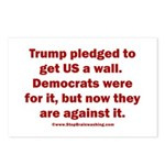 Trump pledged a wall Postcards (Package of 8)