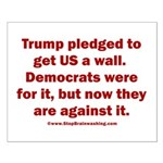 Trump pledged a wall Small Poster