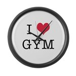 I Heart Gym Large Wall Clock