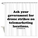 Target Telemarketing! Shower Curtain