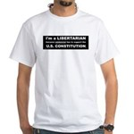 Libertarian Party 2-sided White T-Shirt