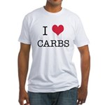 I Heart Carbs Fitted T-Shirt