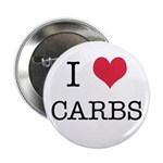 """I Heart Carbs 2.25"""" Button"""