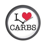 I Heart Carbs Wall Clock