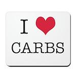 I Heart Carbs Mousepad