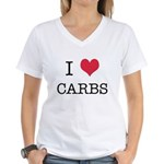 I Heart Carbs Women's V-Neck T-Shirt