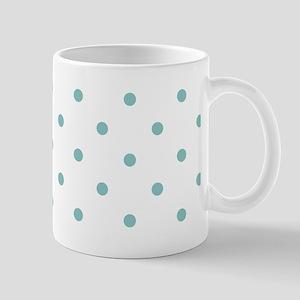 Chalky Blue Small Polka Dots (Reverse) Mug