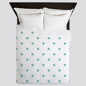 Chalky Blue Small Polka Dots (Reverse) Queen Duvet