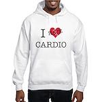i hate cardio Hooded Sweatshirt