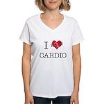 i hate cardio Women's V-Neck T-Shirt