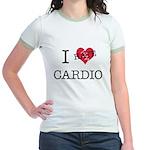 i hate cardio Jr. Ringer T-Shirt