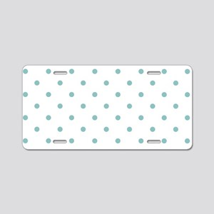 Chalky Blue Small Polka Dot Aluminum License Plate