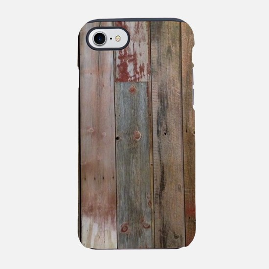 rustic western barn wood iPhone 7 Tough Case