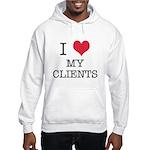 I Heart My Clients Hooded Sweatshirt